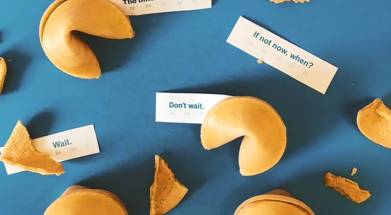 Fortune cookies with various messages