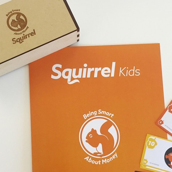 Squirrel kids money box and work book