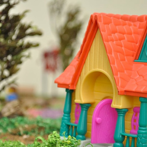 Colourful toy house