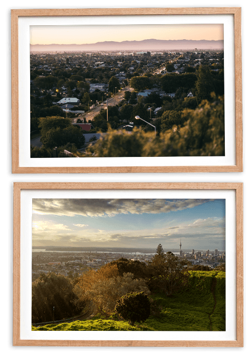 Hamilton and Auckland city scapes