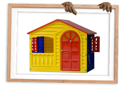 Playschool toy house in picture frame