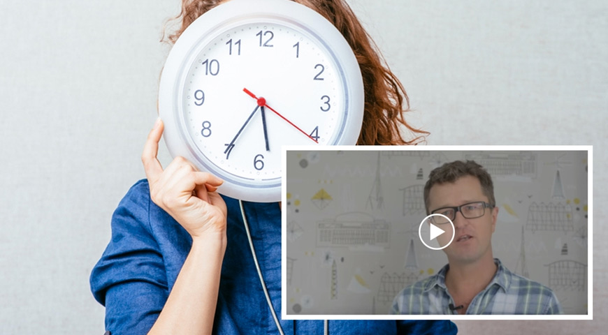 Woman holding clock, JB video