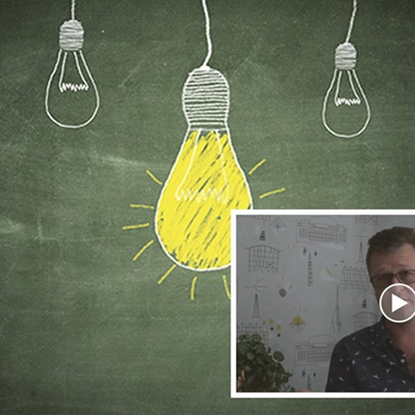 Blackboard with lightbulbs, JB video