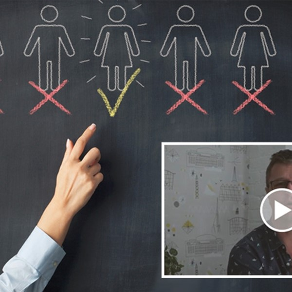 Choosing a person on a blackboard, JB video