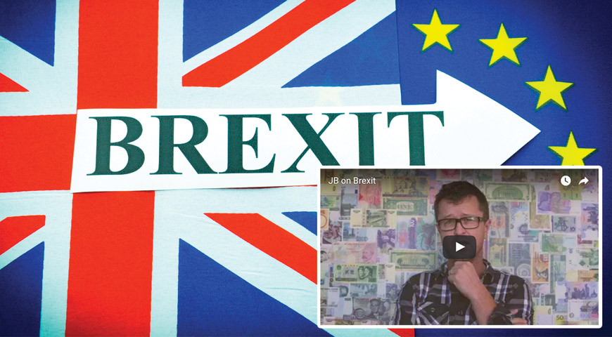 Brexit UK/Europe flags, JB video