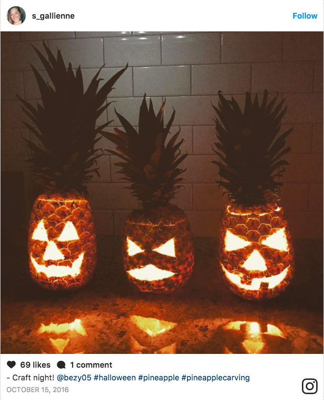 Pineapple Halloween decorations