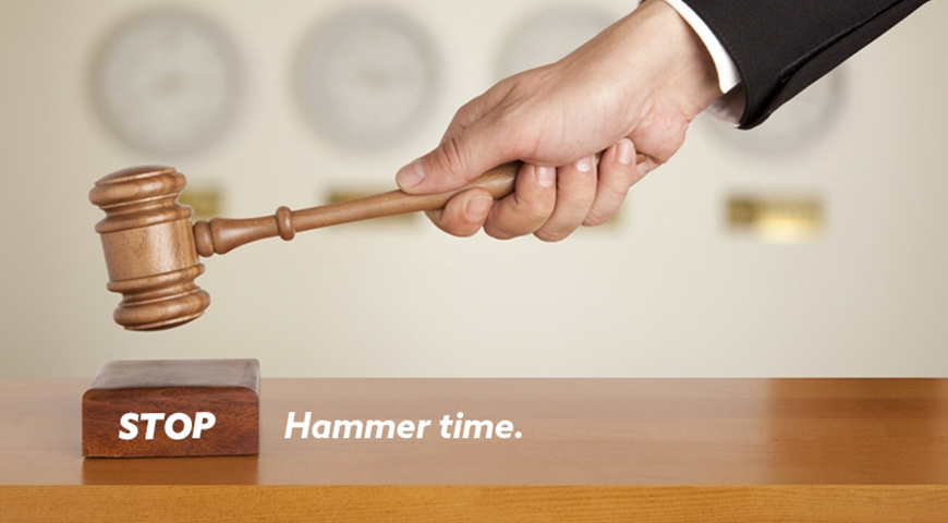 Auction hammer, stop hammer time
