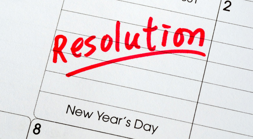 New years resolution calendar