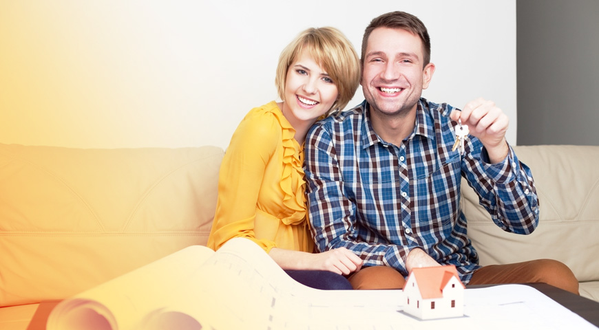 Young couple, first home buyers