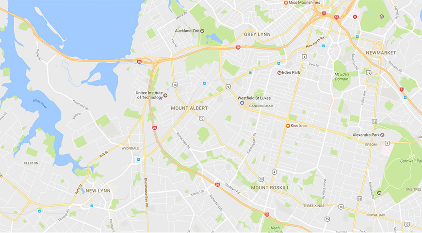 Google Maps image of Mt Albert
