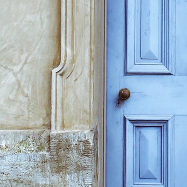 Opportunity is knocking - blue door