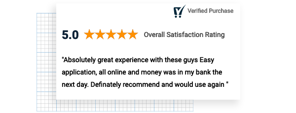 5 star customer review on Squirrel Homeowner's Personal Loan